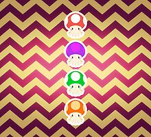 Mario Mushrooms Octo Style by SnapFlash