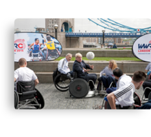 London Mayor joins international stars to officially launch World Wheelchair Rugby Challenge Canvas Print
