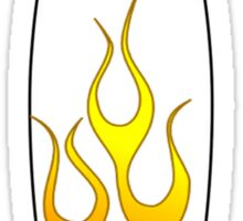 Surfboard Flames Sticker