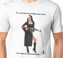 Sexy Nun with Gun - 1 Unisex T-Shirt