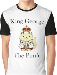 King George the Purr'd Graphic T-Shirt