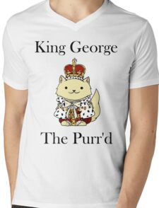 King George the Purr'd Mens V-Neck T-Shirt
