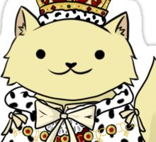 King George the Purr'd Sticker