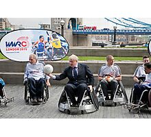 London Mayor Boris Johnson joins international stars to officially launch World Wheelchair Rugby Challenge Photographic Print