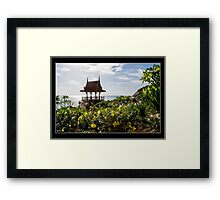 Time to Stop and Think Framed Print