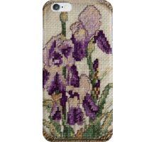 Iris - Flower - Cross Stitch  iPhone Case/Skin
