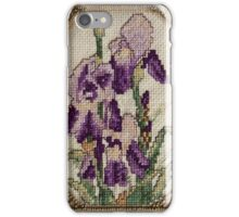 Iris - Flower - Cross Stitch  iPhone Case/Skin