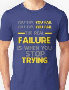 NEVER STOP TRYING - GREY&YELLOW T-Shirt