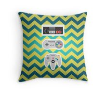 Old School Nintendo Controllers Throw Pillow
