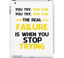 NEVER STOP TRYING - BLACK&YELLOW iPad Case/Skin