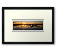 It doesn't get any more relaxed than this Framed Print