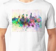 Khobar skyline in watercolor background Unisex T-Shirt