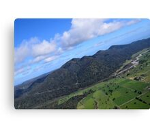 Aerial Photo Mountains Scenic Countryside Canvas Print