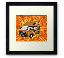 T25 Sunburst cartoon Framed Print