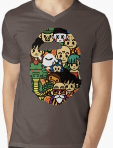 Bape A bathing ape Dragon Ball Z Dbz Mens V-Neck T-Shirt