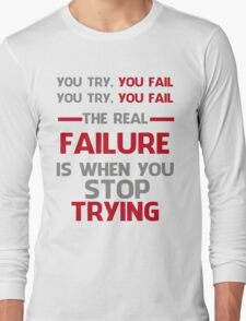 NEVER STOP TRYING - GREY&RED T-Shirt