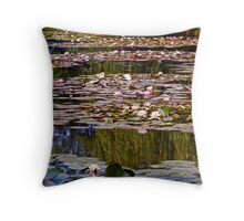 Waterlily Pond at Giverny Throw Pillow