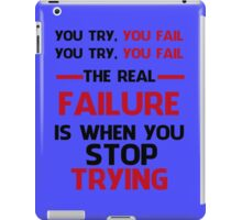 NEVER STOP TRYING - GREY&RED iPad Case/Skin