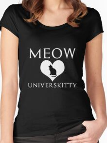 meow universkitty Women's Fitted Scoop T-Shirt