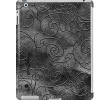 Graphite swirls iPad Case/Skin