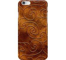 Brown swirls iPhone Case/Skin