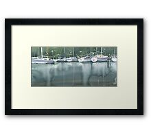 Boats at the marina of Morlaix, Brittany Framed Print