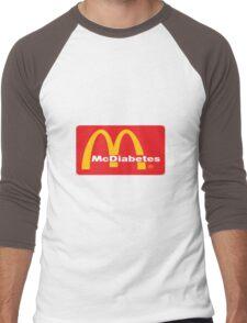 mcdiabetes - maccas, mcdonalds  Men's Baseball ¾ T-Shirt