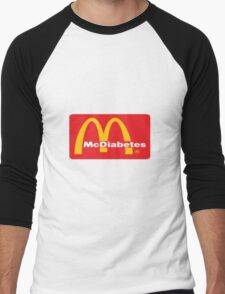 mcdiabetes - maccas, mcdonalds  Men's Baseball ¾ T-Shirt