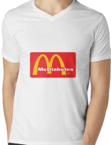 mcdiabetes - maccas, mcdonalds  Mens V-Neck T-Shirt