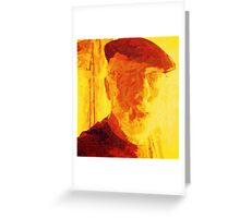 SELF PORTRAIT OF THE ARTIST AS AN OLD GUY. Greeting Card