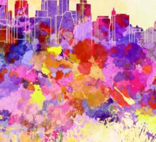 New York skyline in watercolor background Sticker