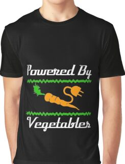 Cool Unique Powered By Vegetables T-Shirt Ideal Gift For Vegans Graphic T-Shirt