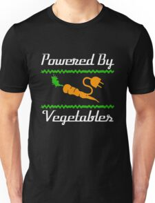 Cool Unique Powered By Vegetables T-Shirt Ideal Gift For Vegans Unisex T-Shirt