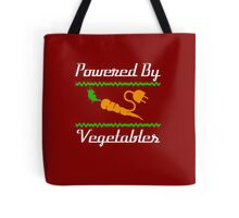 Cool Unique Powered By Vegetables T-Shirt Ideal Gift For Vegans Tote Bag