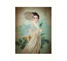 Chinese Flower Art Print