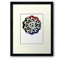 South African Football Flower Framed Print