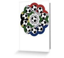 South African Football Flower Greeting Card