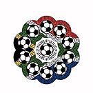 South African Football Flower by catherine barnhoorn