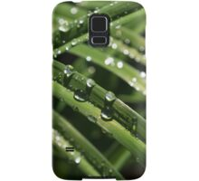 Sparkling Green Summer Rain Jewels Samsung Galaxy Case/Skin