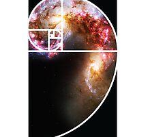 Fibonacci Spiral Galaxy by GalacticMantra