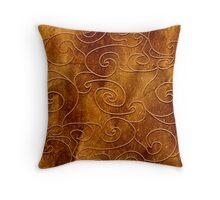 Brown swirls Throw Pillow