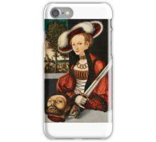 Lucas Cranach the Elder, studio of, Judith with the Head of Holofernes iPhone Case/Skin
