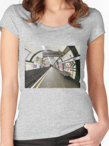 Gloucester Road Underground Women's Fitted Scoop T-Shirt