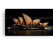 Mosaic Sails - Sydney Opera House - Sydney Vivid Festival Canvas Print