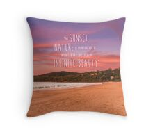 Noosa Beach Sunset Pillow with Quote - Australia Throw Pillow