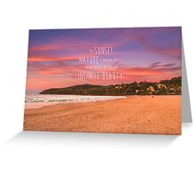 Noosa Beach Sunset Pillow with Quote - Australia Greeting Card