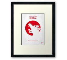 No029-1 My Godzilla 1954 minimal movie poster Framed Print