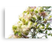 Pink, Green, Yellow Colourful Tree Canvas Print