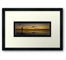 Alone doesn't mean lonely Framed Print