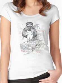 Shhh Women's Fitted Scoop T-Shirt